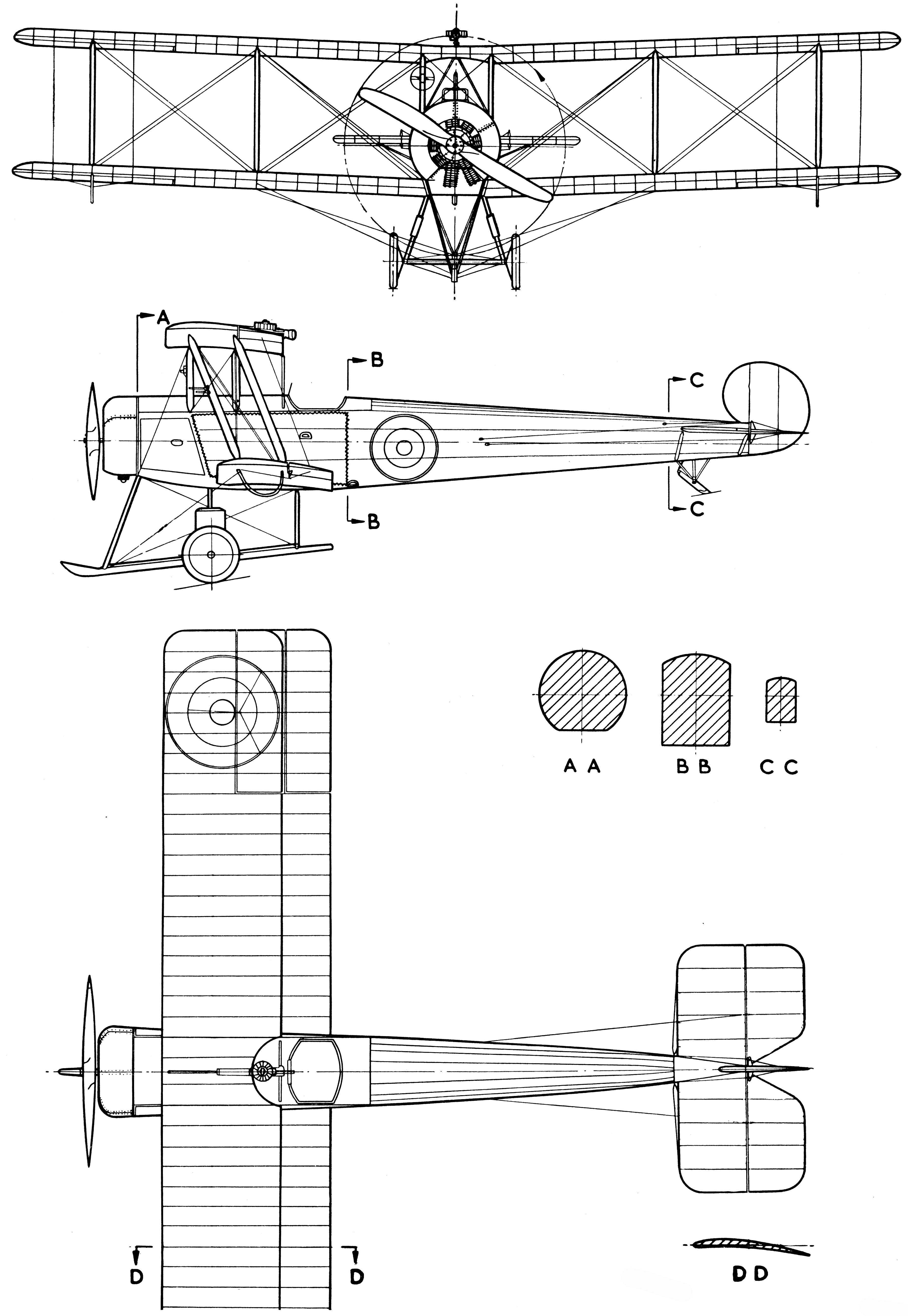 Avro 504k blueprint blueprints pinterest avro 504k blueprint malvernweather Gallery