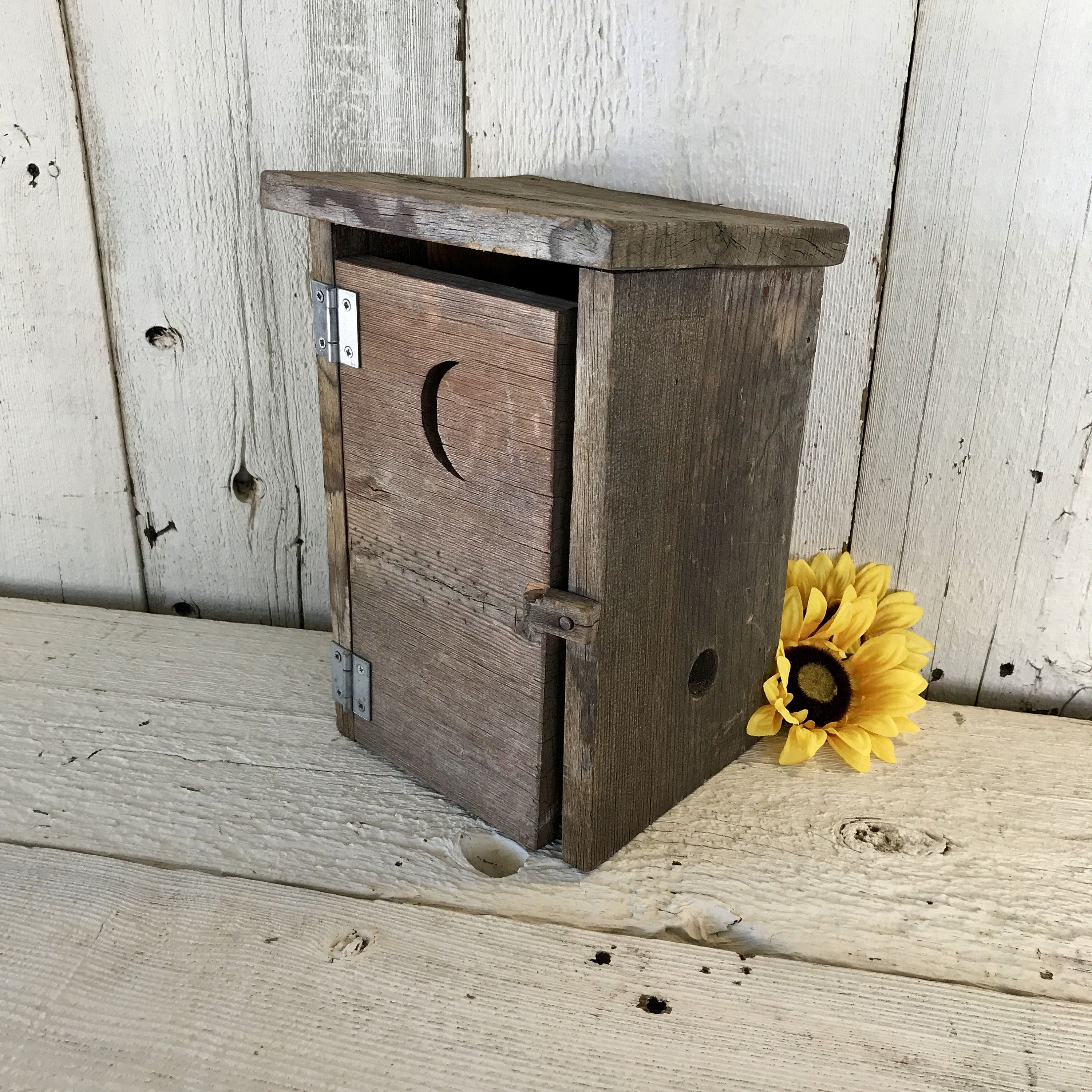 Rustic Weathered Wood Outhouse Toilet Paper Holder Counter Top Or Hanging Farmhouse Storage Box Rustic Bathroom Decor Weathered Wood Farmhouse Storage Boxes