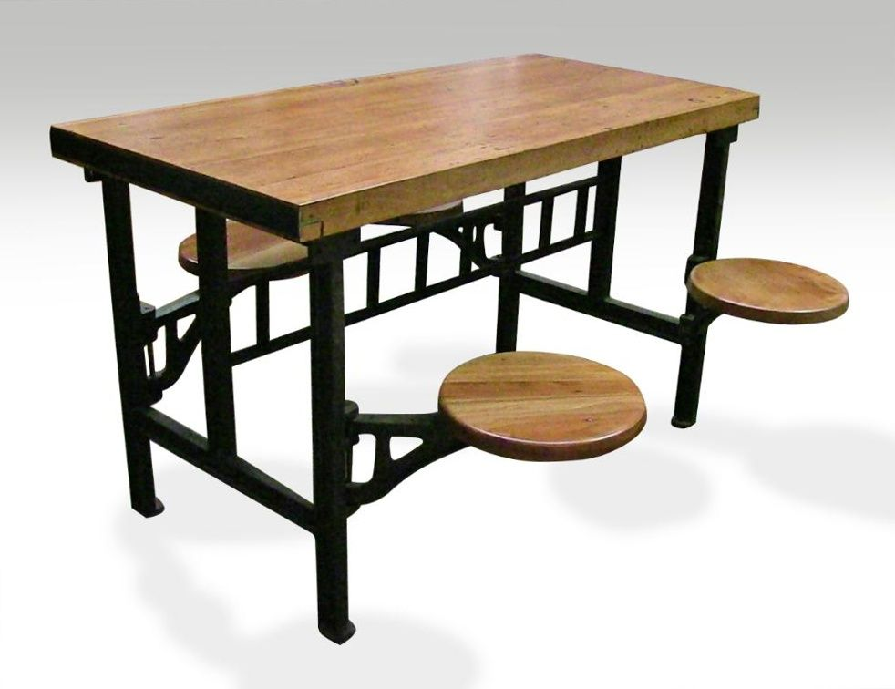 four seat swing seat industrial factory table pinterest butcher