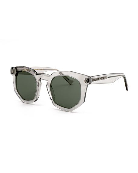 970d588f6a91 GREY ANT Composite Geometric Sunglasses, Light Gray, Light Grey. #greyant #
