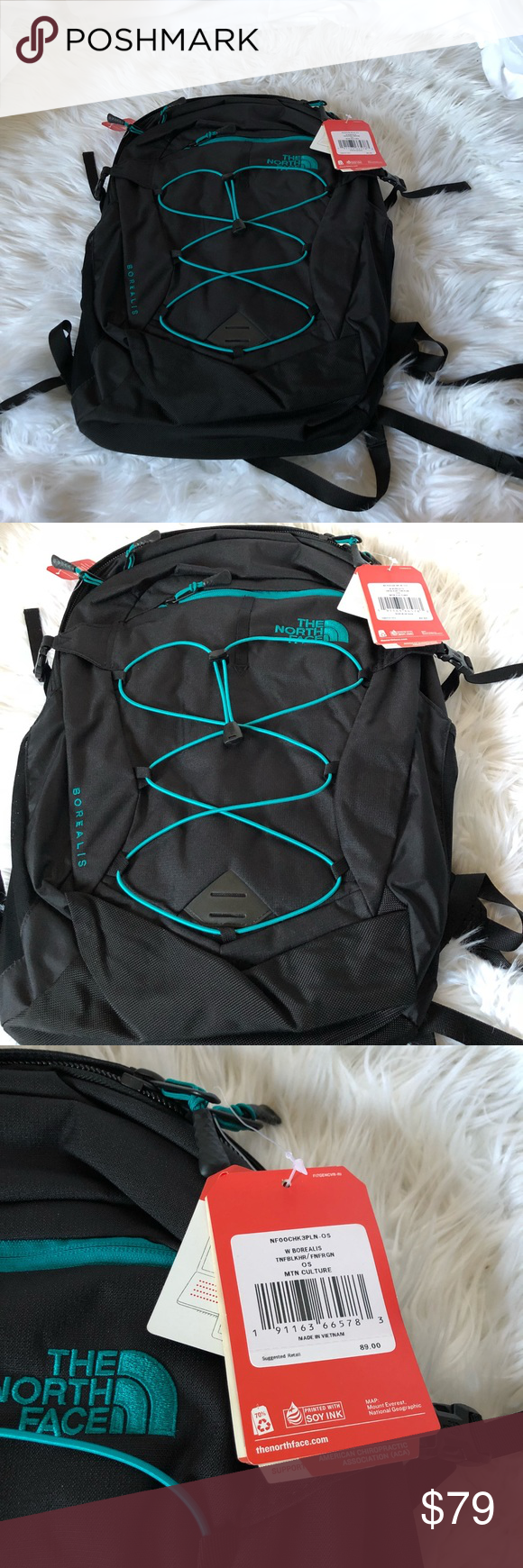 70ecb92df The North Face Borealis Black/Teal Brand new The North Face Women's ...