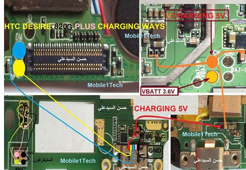 HTC 820G Plus Usb Charging Problem Solution Jumper Ways | a