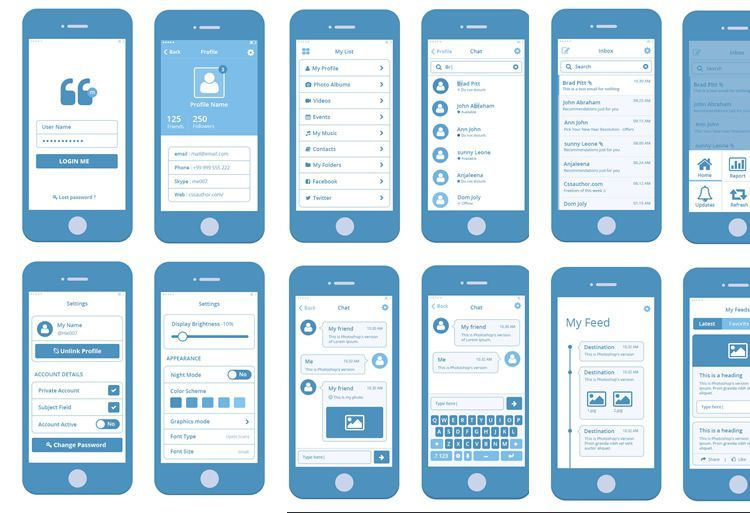 50 Free Wireframe Templates for Mobile, Web and UX Design Mobile