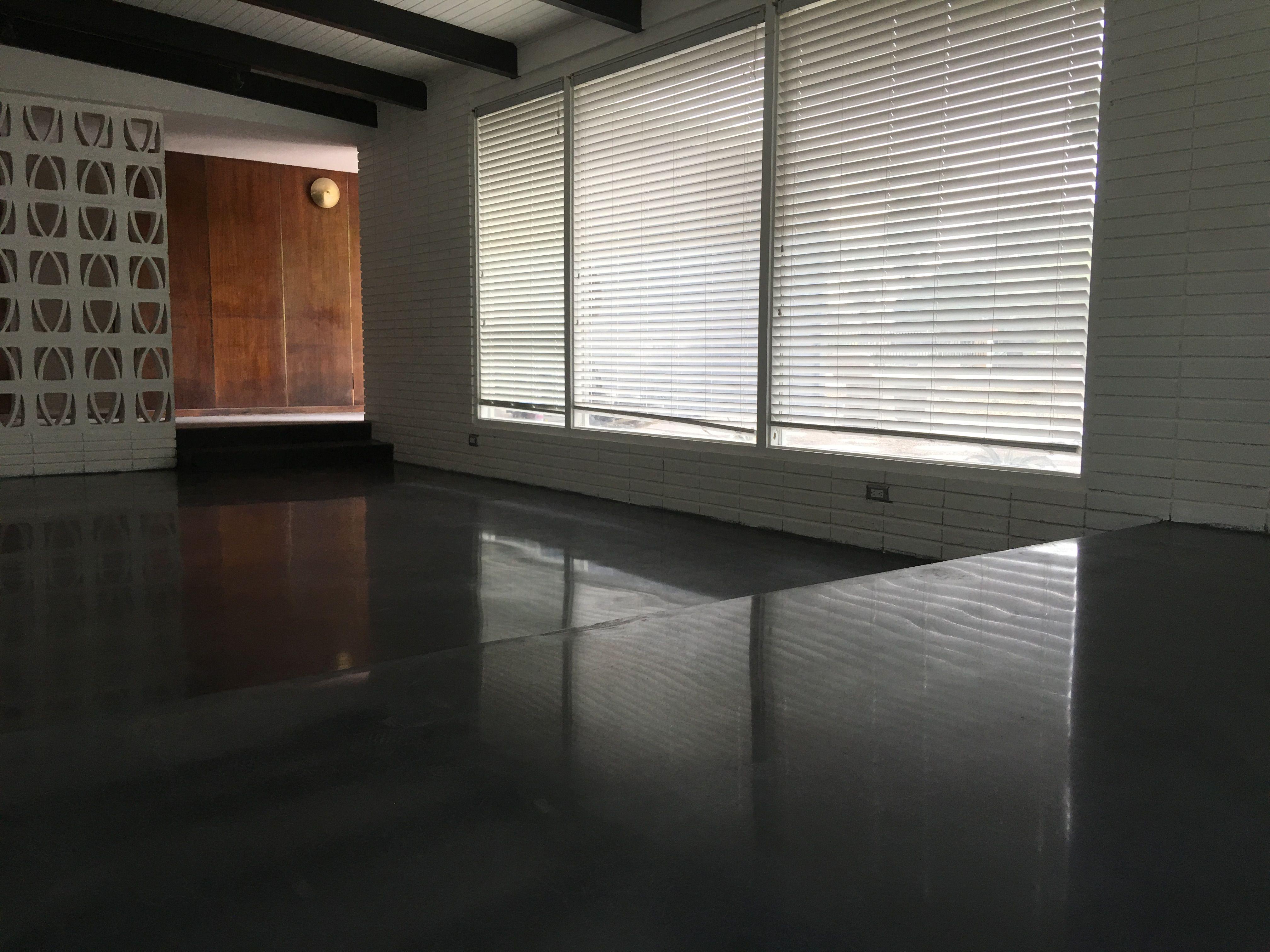 Polished Concrete Black Floor