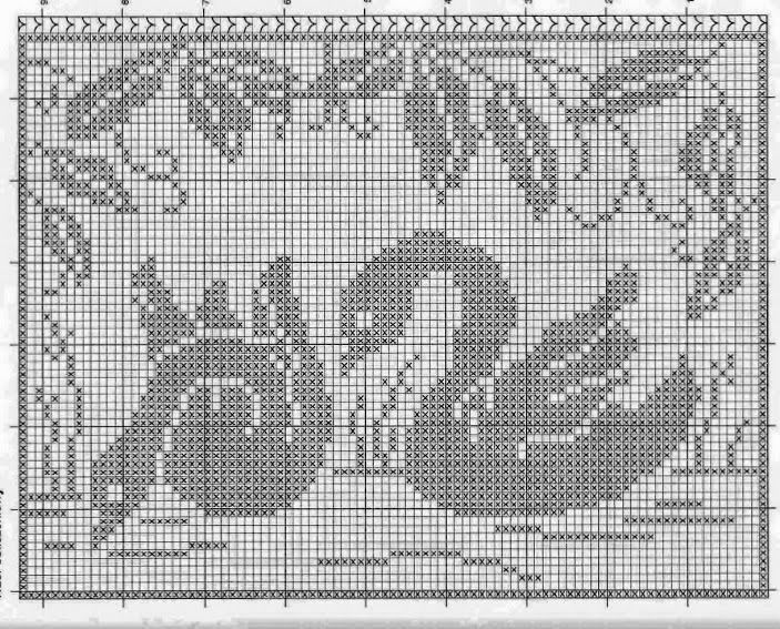 Kira scheme crochet: Labudovi | crochet | Pinterest | Cortinas ...