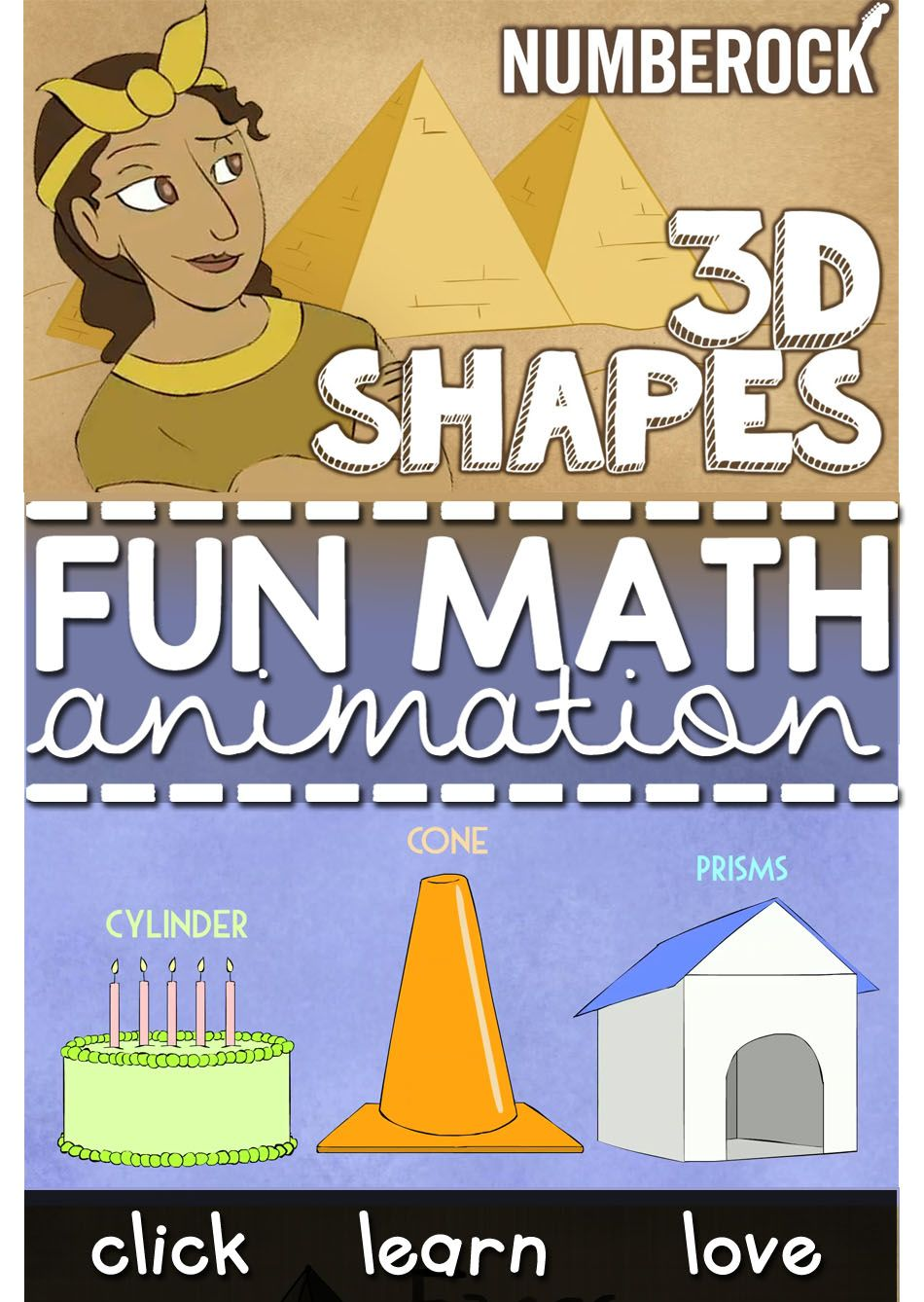 3D Shapes Song: Ad-Free and Child-Safe