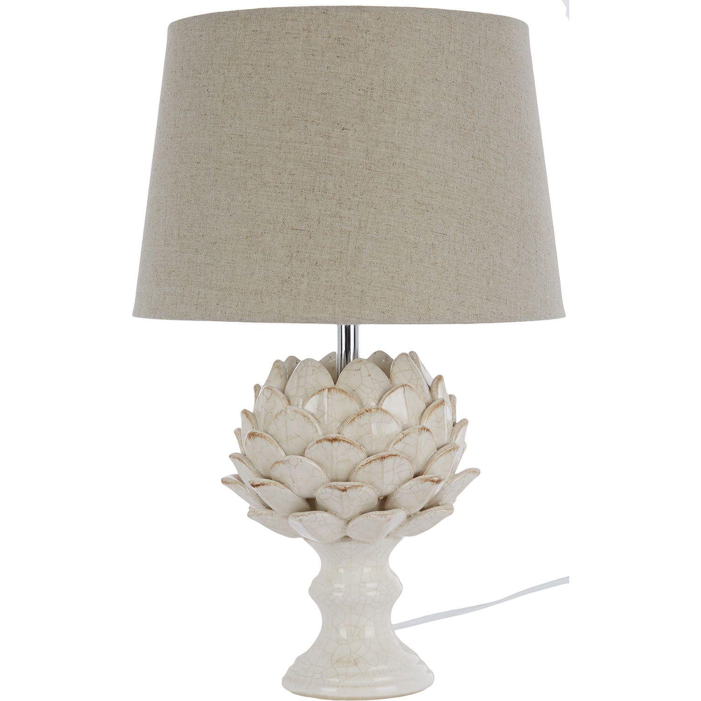Cream Artichoke Effect Table Lamp   TK Maxx