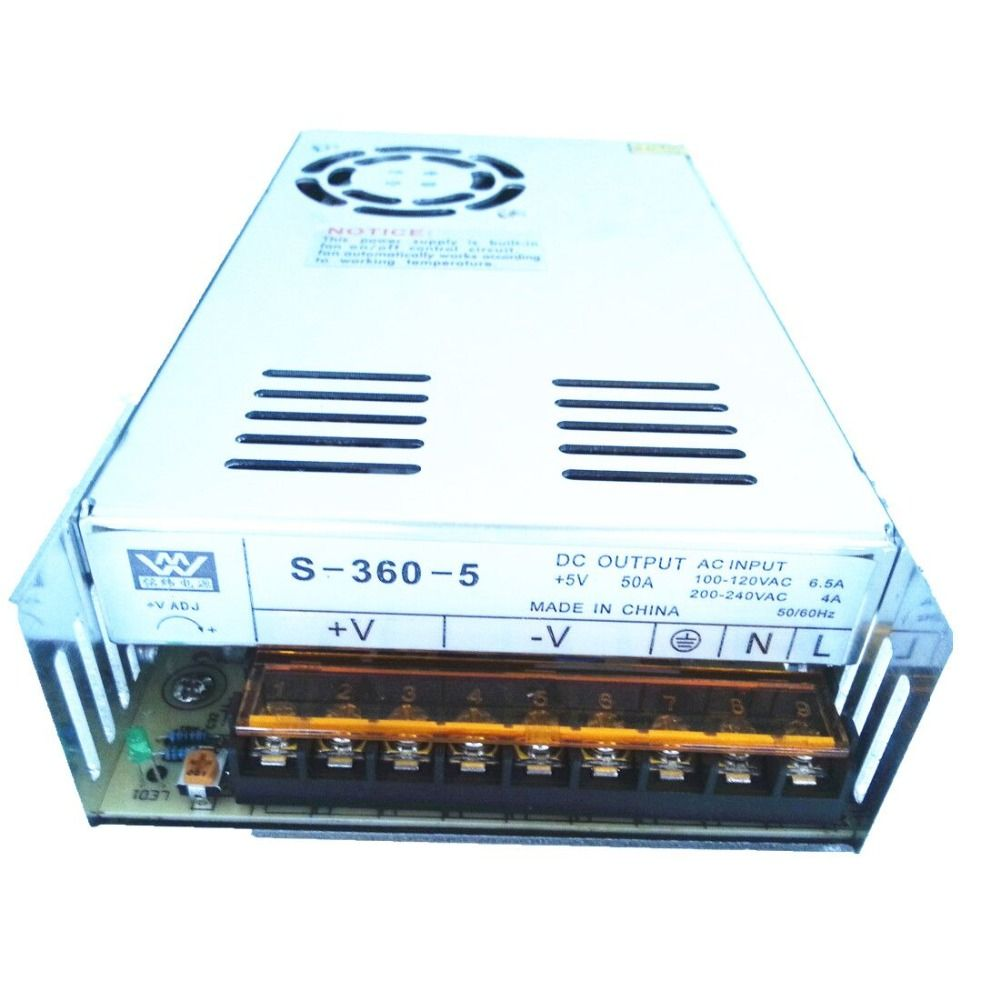 Mw High Quality 5v 50a 360w Dc Regulated Switching Power Supply Cnc Ac 100 240v To 9v 1a Converter Adapter Eu 31