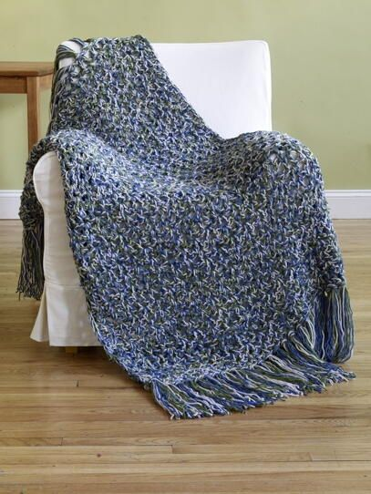 Under 6 Hours Crochet Throw Pattern | Colchas tejidas, Colchas y Labores