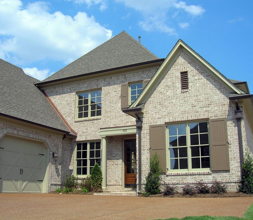 New Brick Homes: AL Brick Home Exterior Inspiration