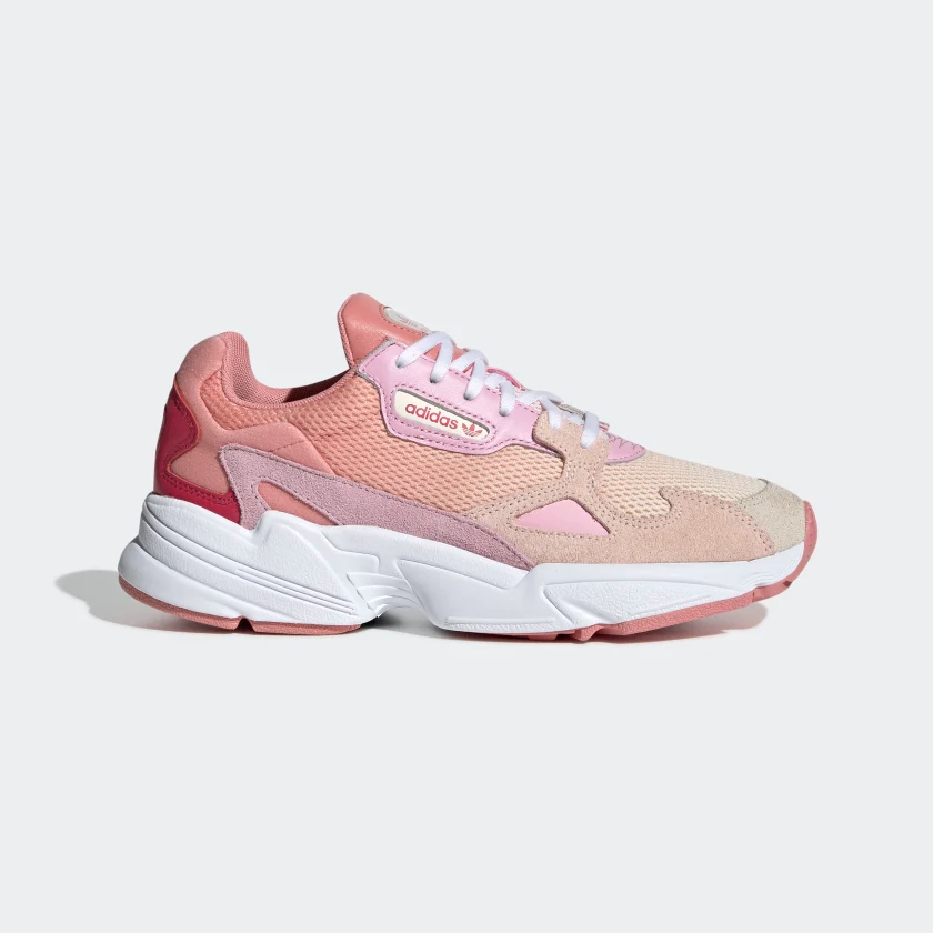 Falcon Shoes Beige Womens | Pink sneakers, Sneakers, Pink adidas