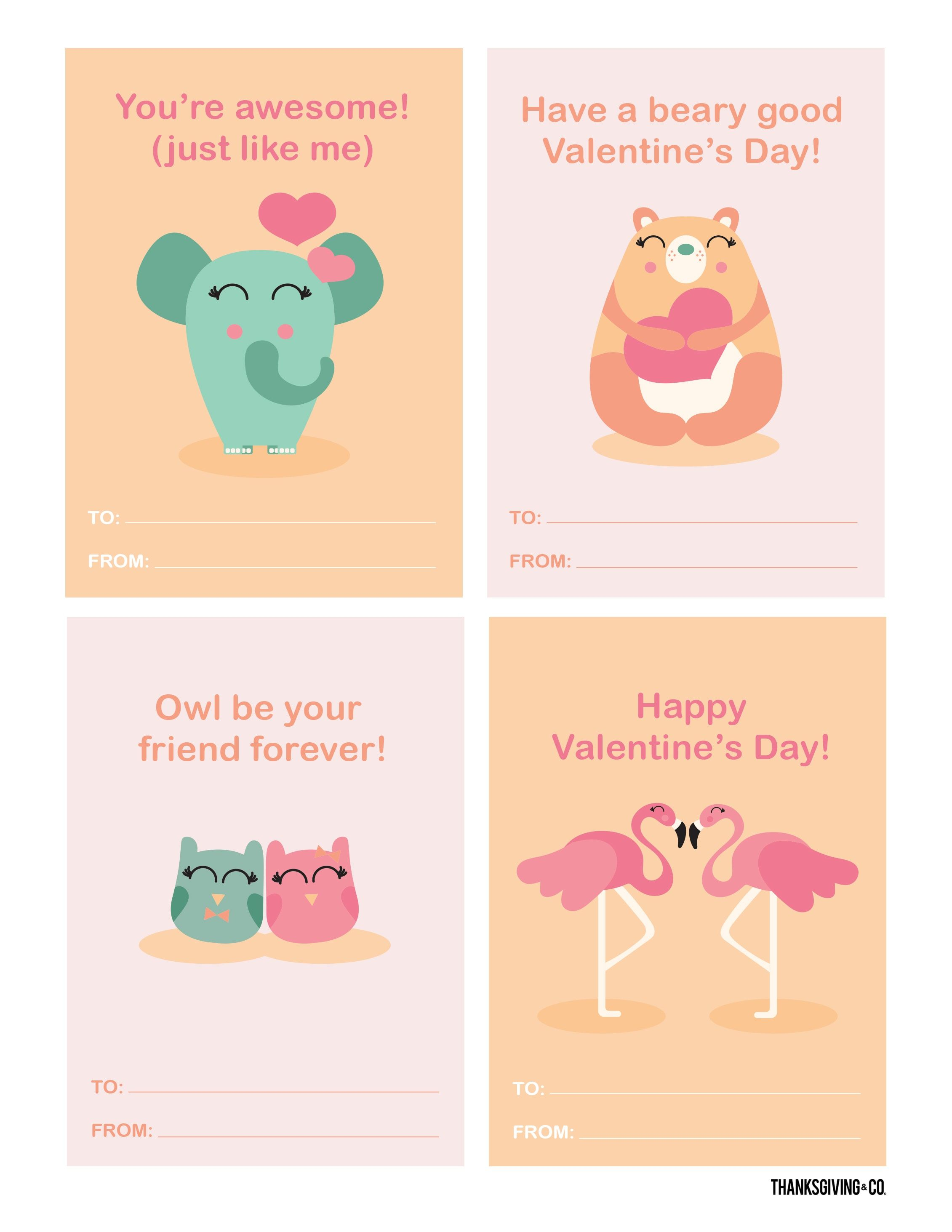 3 Free Printable Valentine S Day Cards Perfect For Kids To