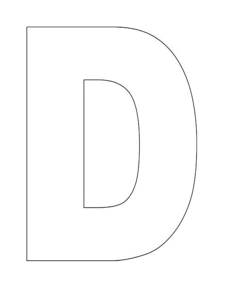 This is a graphic of Superb Printable Letter D