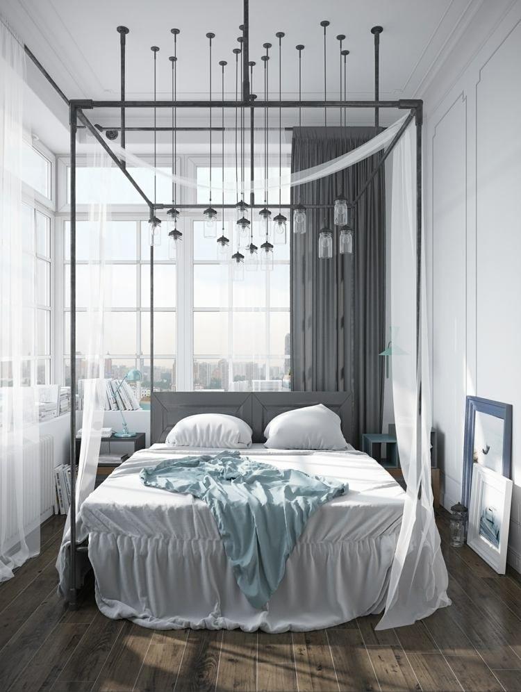 baldaquin pour une chambre de déco romantique moderne