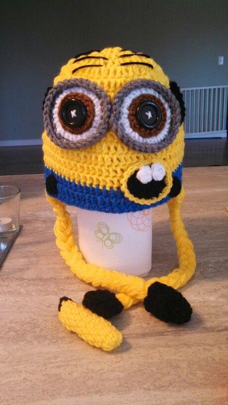 My minion crochet hat :) | crochet | Pinterest | Gorros, Vestidos de ...