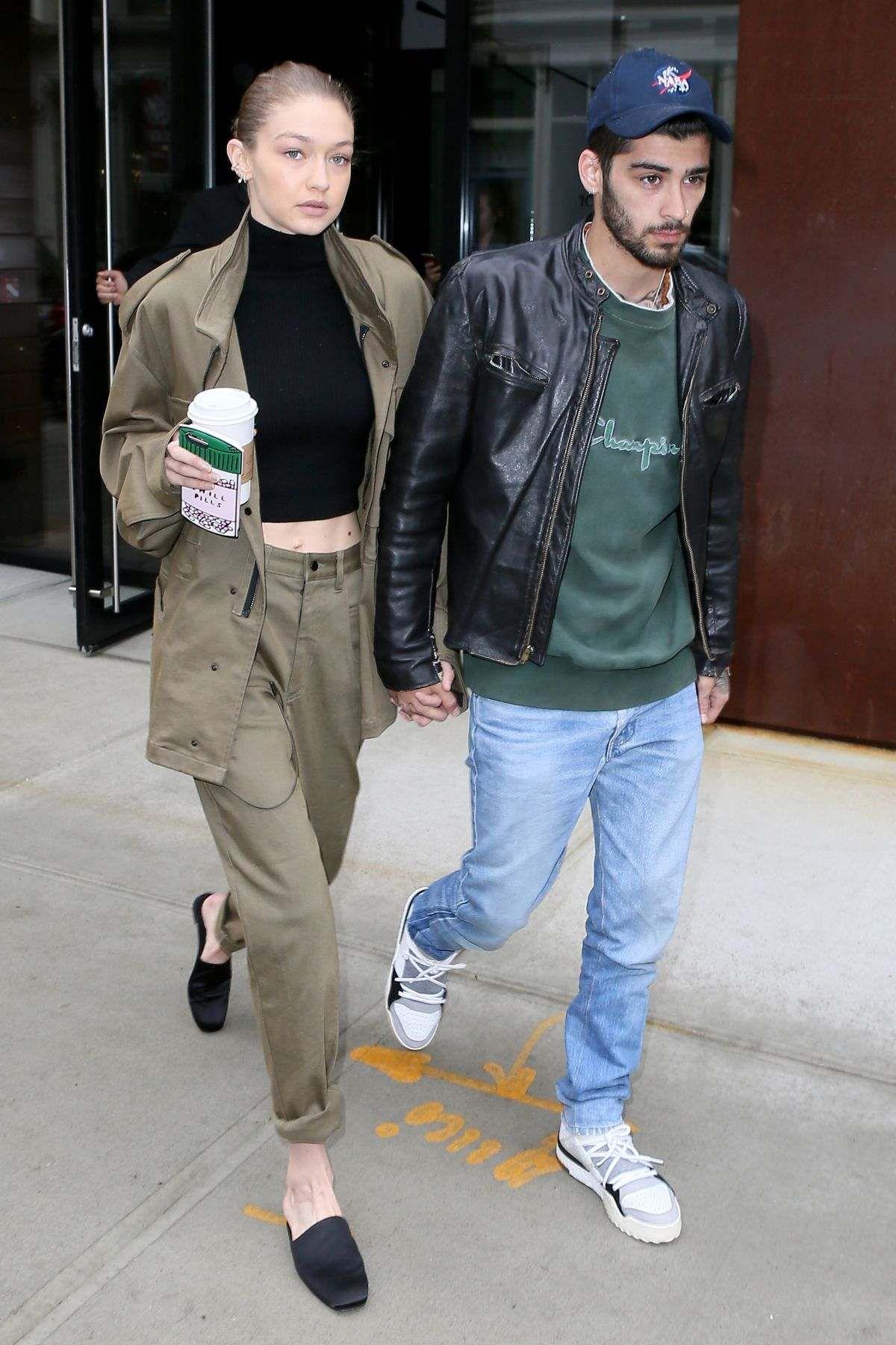 Gigi Hadid And Zayn Malik Out In New York