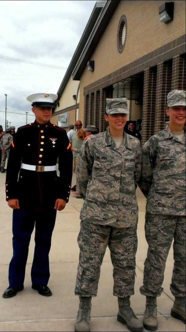 Marine Surprises Airman Girlfriend | So heartfelt | Military