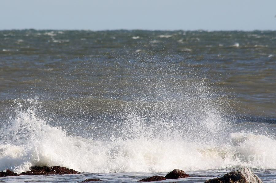 Waves Pounding The Montauk Surf Photograph by John Telfer