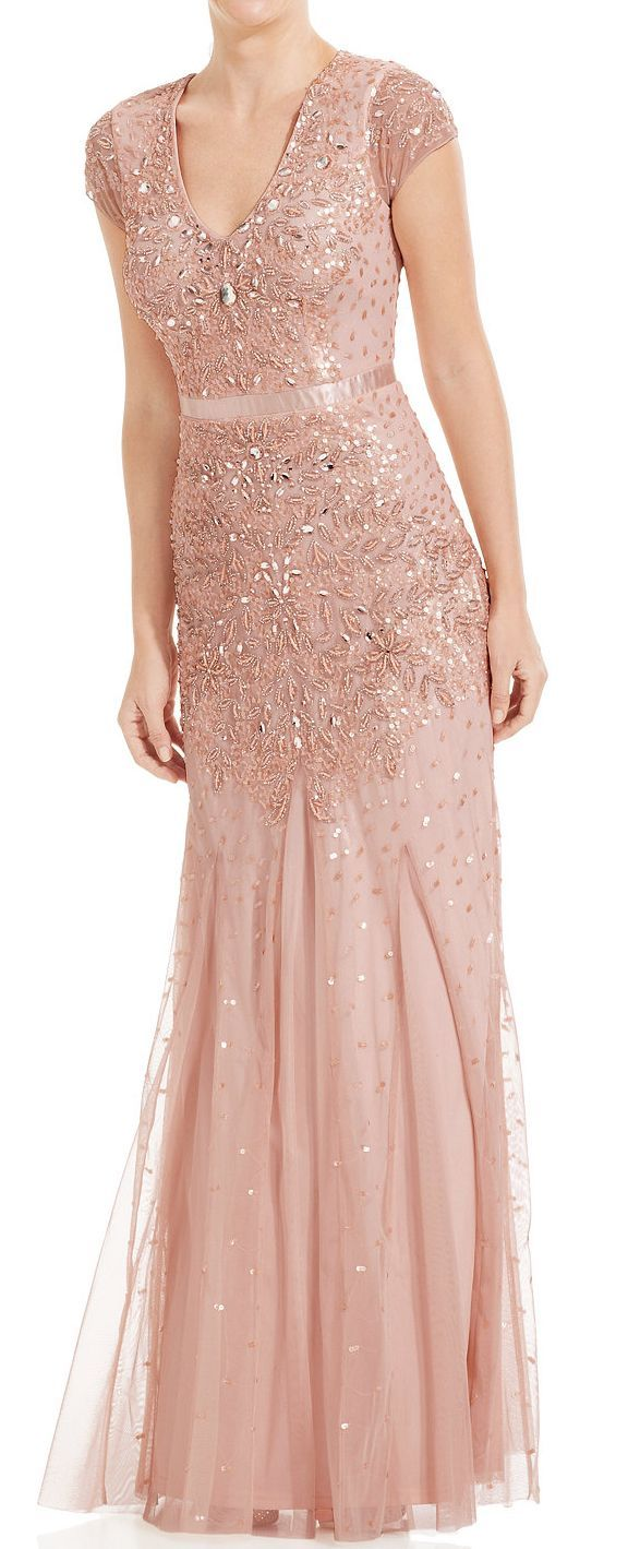 Cap-Sleeve Embellished Gown. Macy\'s | DRESSES!!! | Pinterest ...
