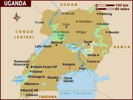 Tillbaka Till Samtiden Uganda Map Travel Information