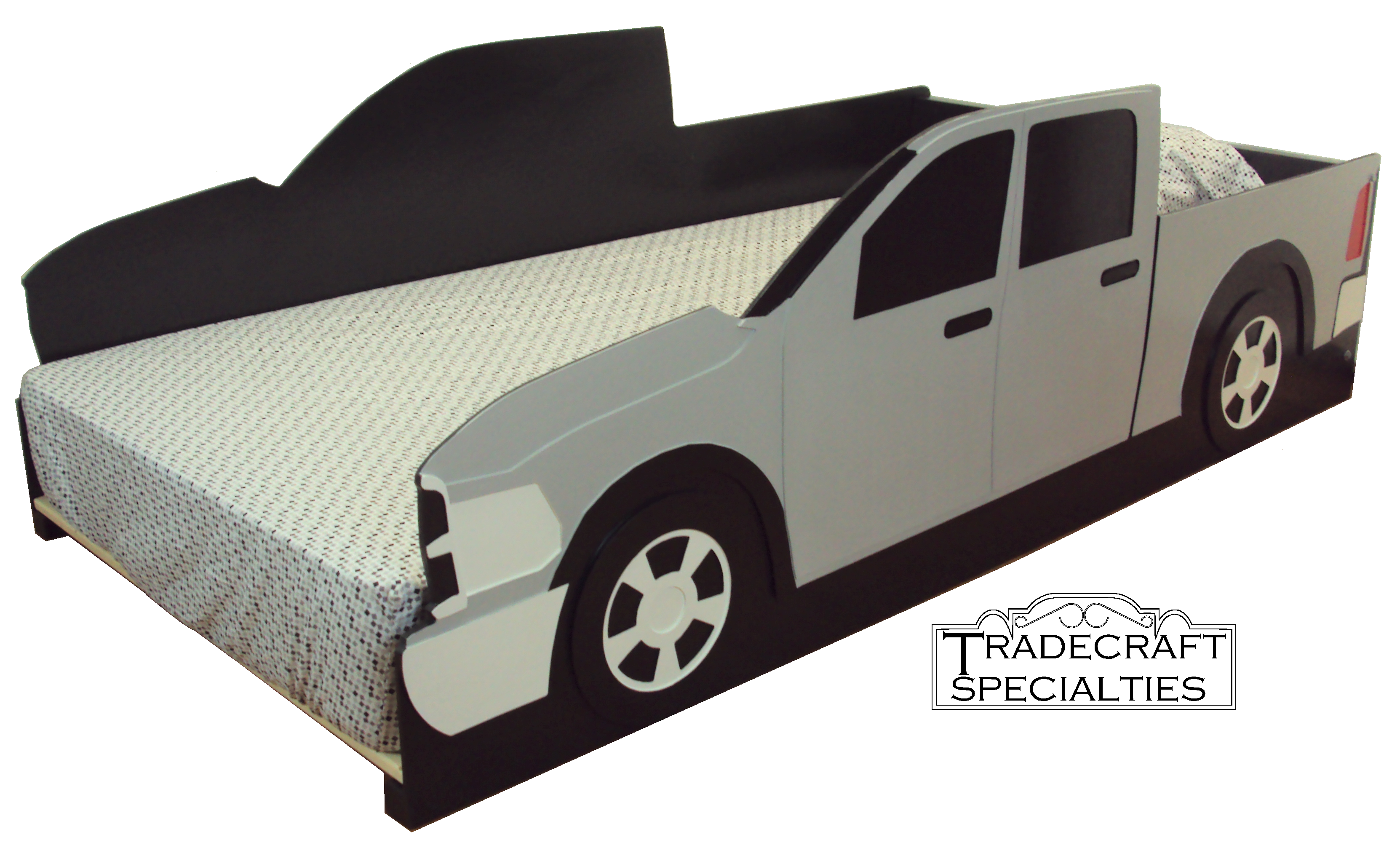 Pickup Truck Twin Size Bed Frame With Styling Inspired By Dodge
