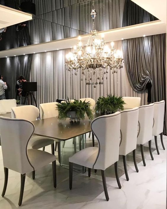 Interior Design Ideas for a glamorous Dining Room images
