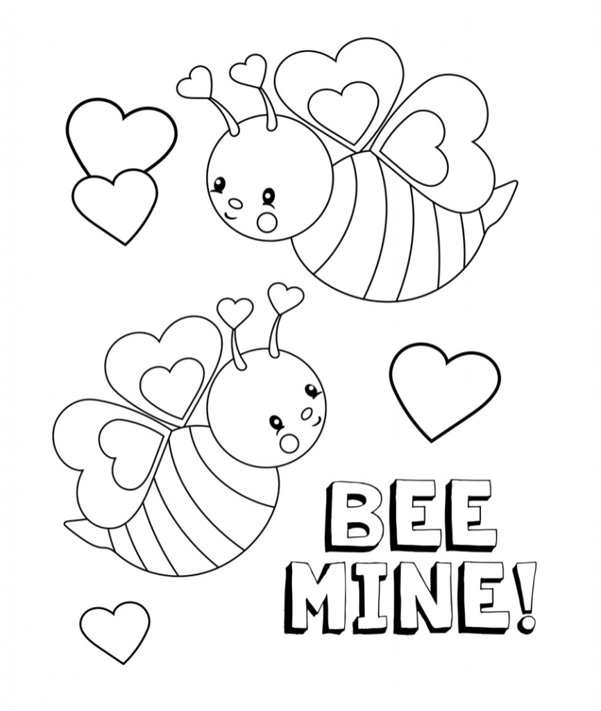 February Coloring Pages Printable Valentines Coloring