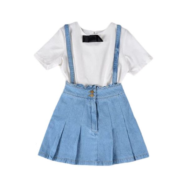 0818925c24 Frilled Suspender Denim Skirt Light Blue (35 AUD) ❤ liked on Polyvore  featuring dresses, outfits and overalls