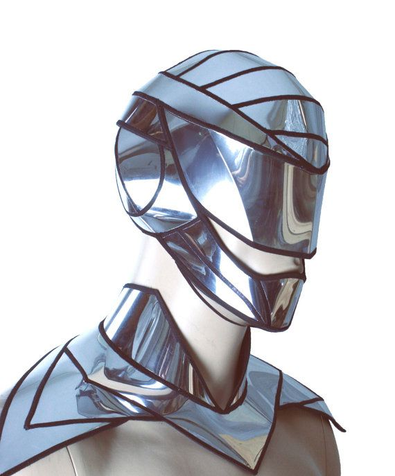 Futuristic Inspired Cyborg Mask Helmet Headpiece Robot Armour Robo