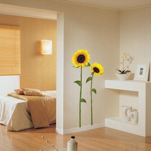 Sunflower Kitchen Decor Nursery Easy Apply Wall Sticker
