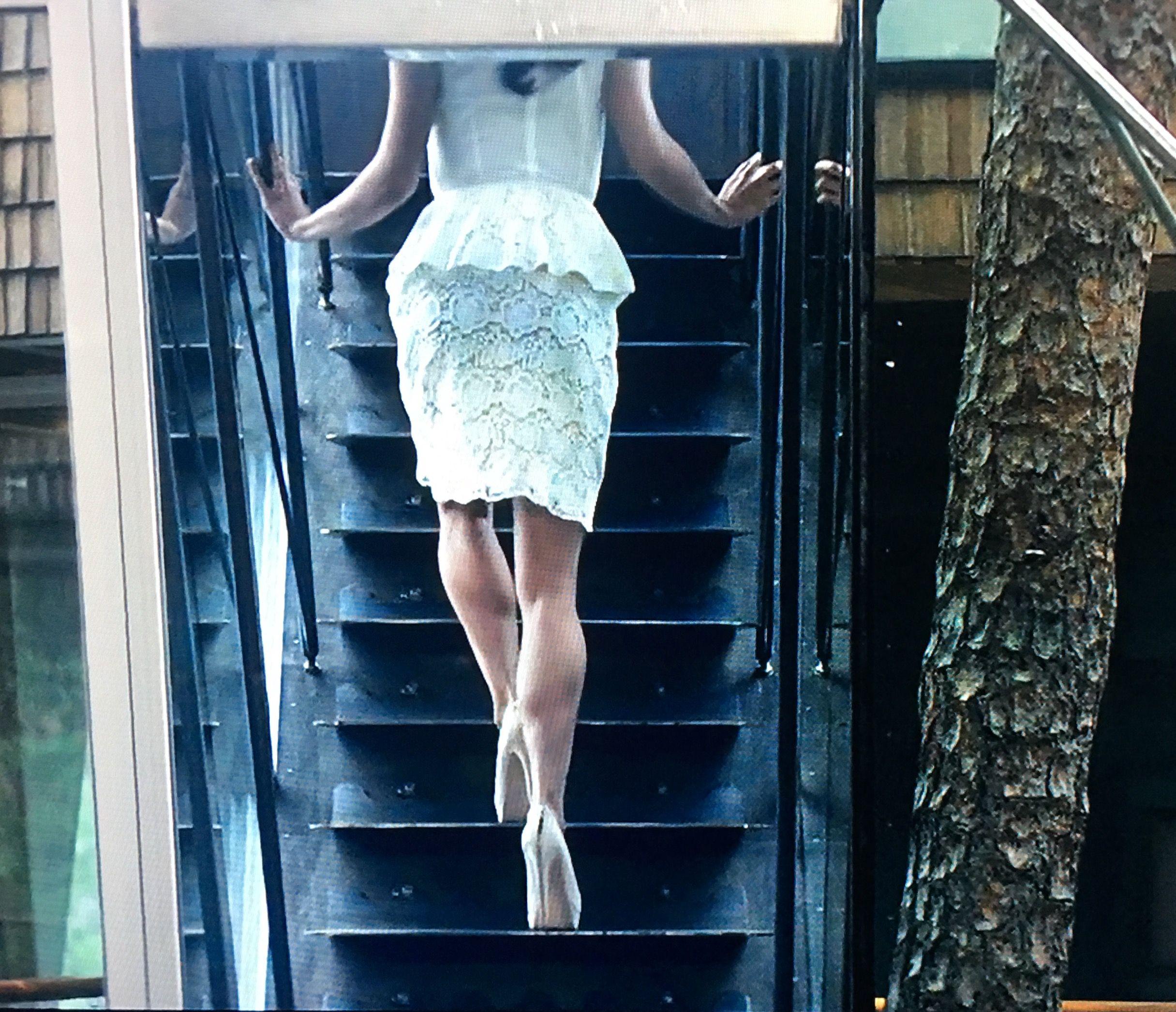 alicia vikander leggy in white and sky high heels in ex machina