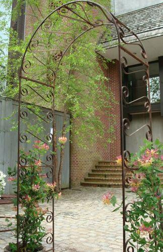 Trellis Antique Wrought Iron Garden Rose Arch Garden Arches