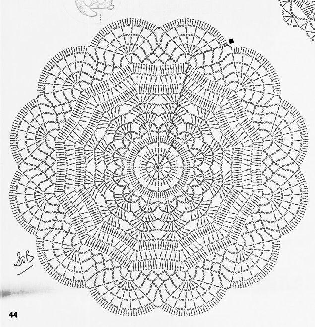 Pin de maria en Ganchillo   Pinterest   Carpeta, Ganchillo y Mandalas
