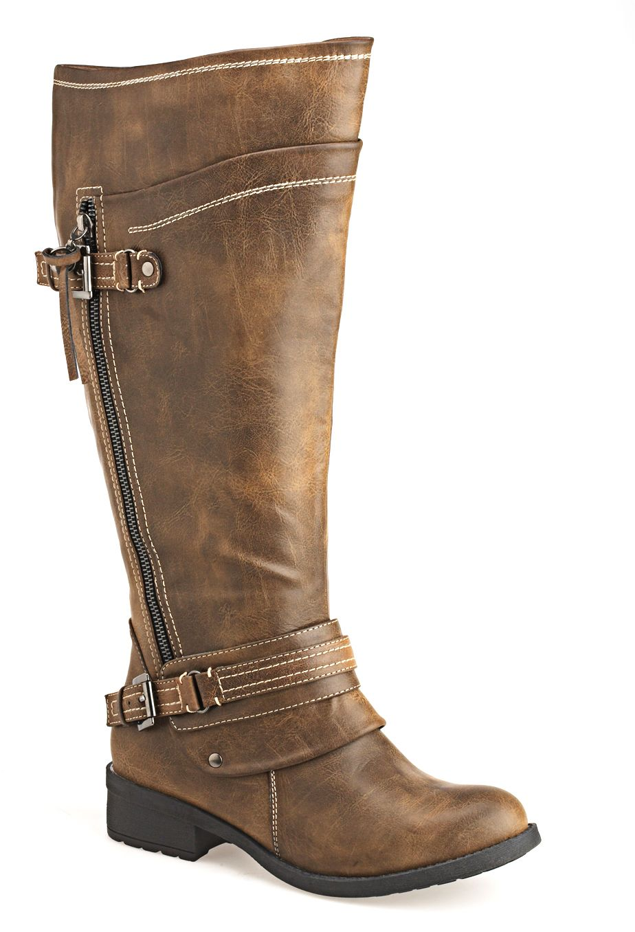 Womens Brinley Co Women's Bailey Riding Boot Regular Wide Calf For Sale Online Size 36