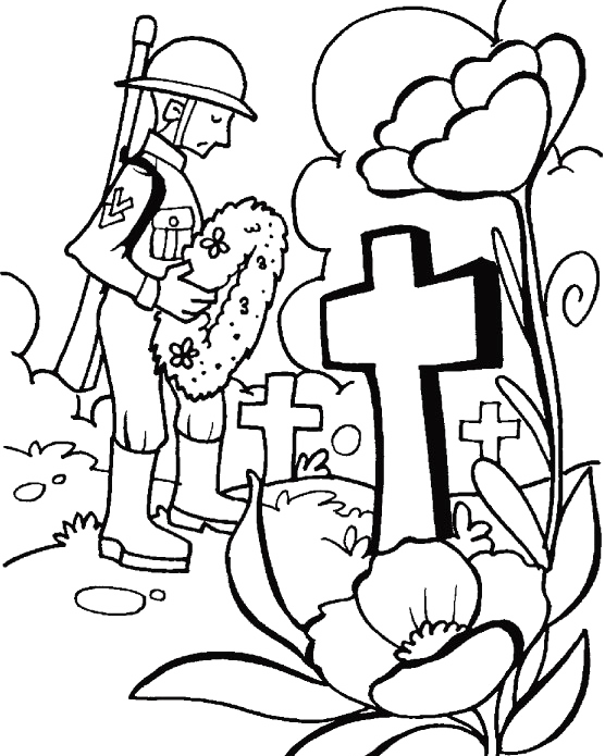 A visit to the tomb on memorial day coloring for kids for Memorial day coloring pages for kids