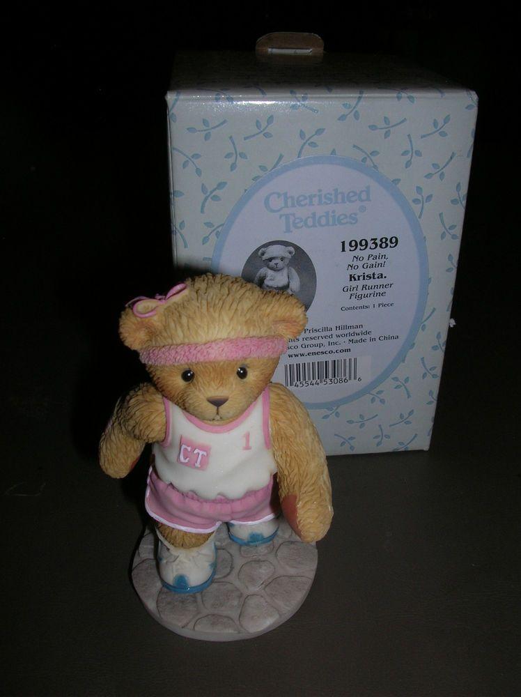 "CHERISHED TEDDIES   "" KRISTA  ""  GIRL RUNNER   # 199389   MIB  2001"