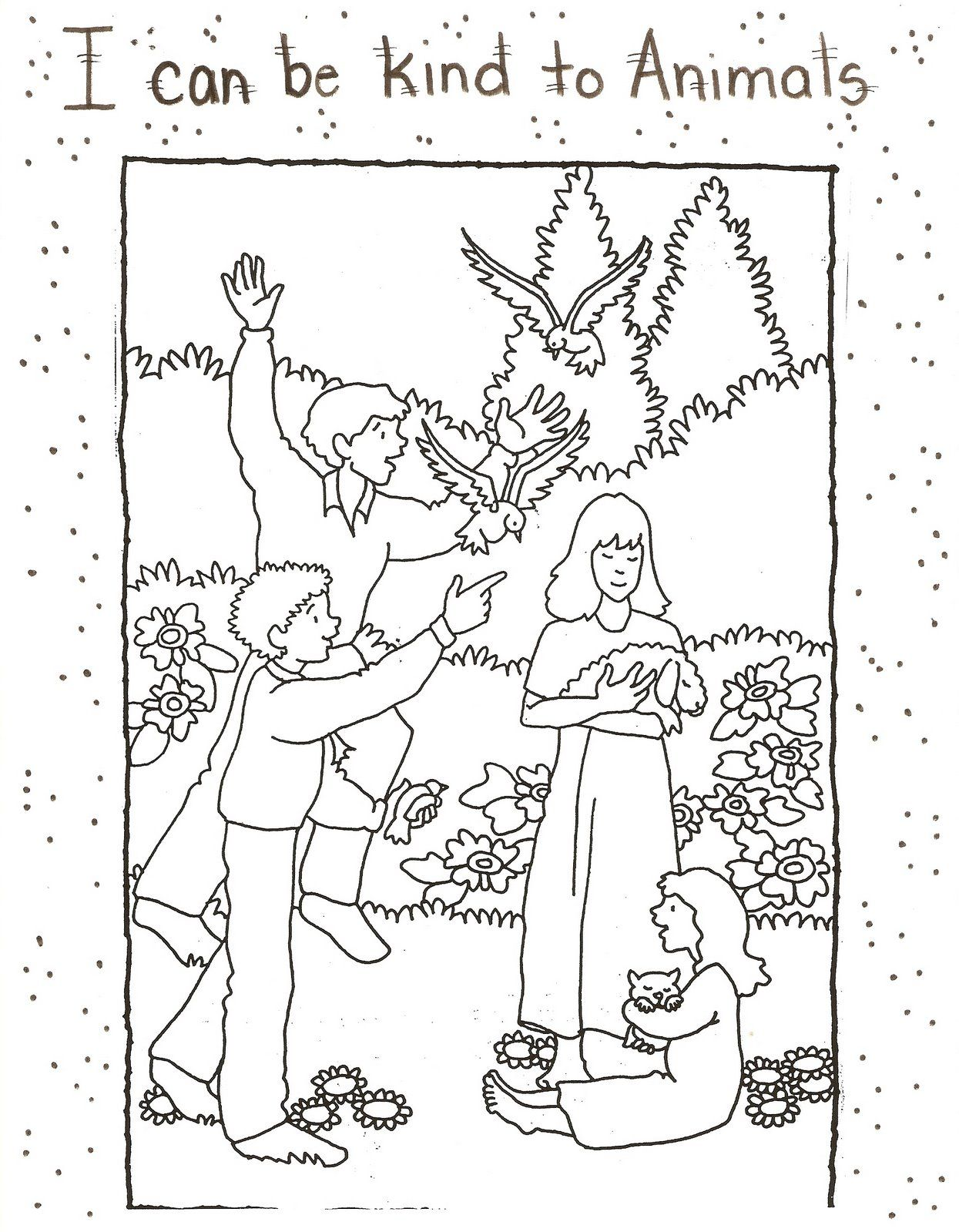 Color Page Animals Jpg Image Coloring Pages Lds Crafts Lds Nursery