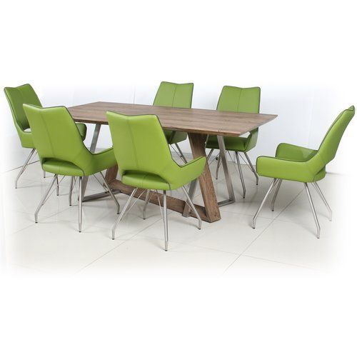 Dining Set With 6 Chairs Home Loft Concept Colour Chair Gr Green Table Size 76cm H X 180cm L 100cm W