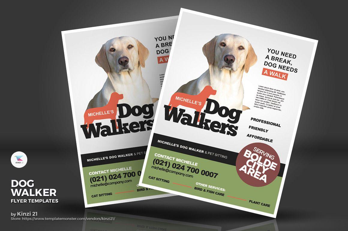 Dog Walker Flyers Corporate Identity Template 71233 Dog Walker