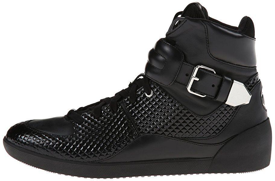 Just Cavalli Men's Pyramid Hightop Fashion Sneaker,Black,39 EU/7 ...