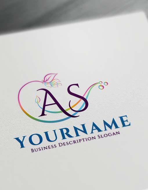 Free Logo Creator Online Floral Alphabet Logo Maker A Beauty