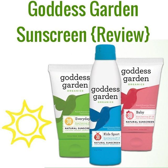 Goddess Garden Sunscreen {Review} Looking For A Sunscreen Everyone In The  Family, Even