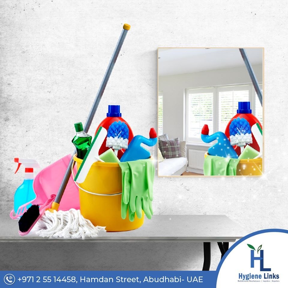 Variety Of Cleaning Equipment Disinfectants And Sanitation