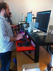 $22 ikea hack to convert regular desk into standing desk