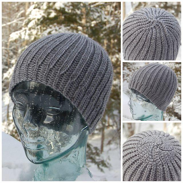 Ravelry  Men s Reversible Knit Look Beanie pattern by Jennifer Pionk 85d661dc094