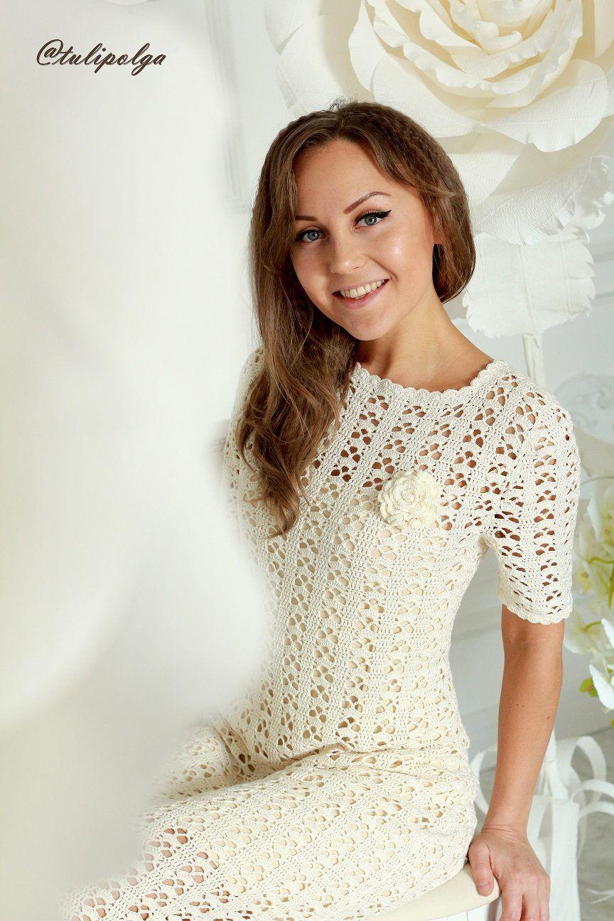Одноклассники | Crochet: vestidos y faldas | Pinterest | Vestiditos ...