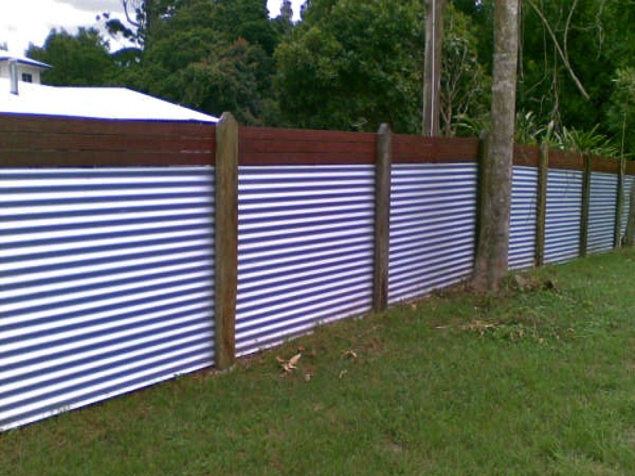Metal Fence Panels In X Black Galvanized Steel Panel