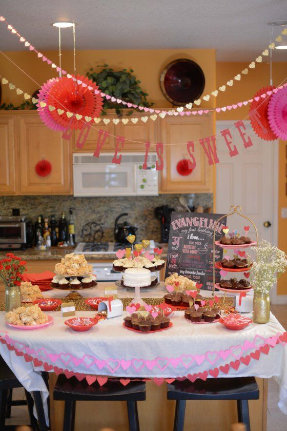 Valentine S Day Inspired 1st Birthday Party Loveparty