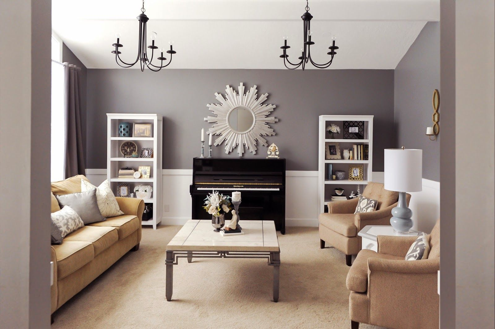 Studio 7 Interior Design: Client Reveal:Transitional Chic Formal Living Room .