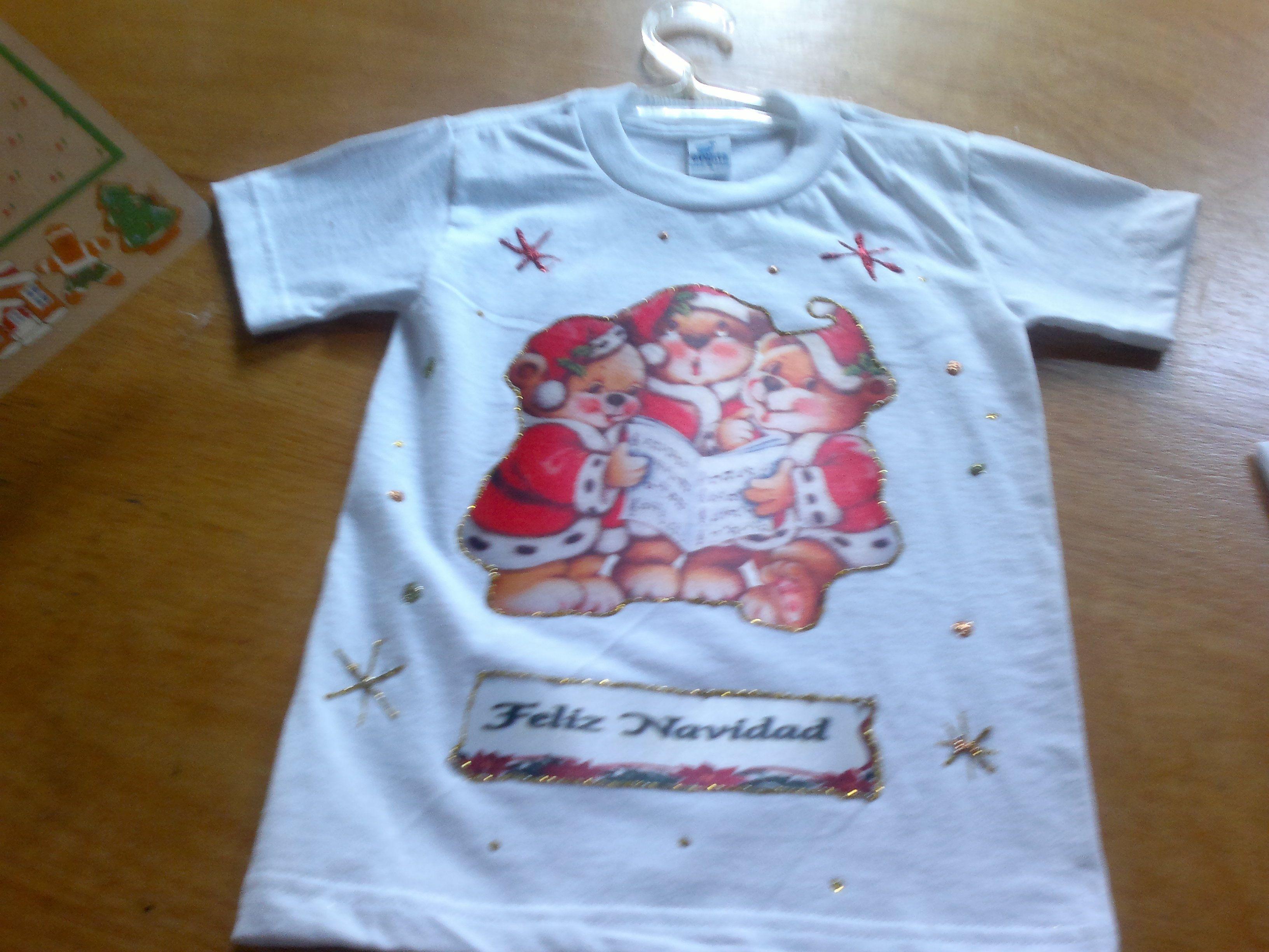 Franela Navidad Mis Trabajos Sublimacion Pinterest Franela  ~ Ideas Para Decorar Camisetas Infantiles